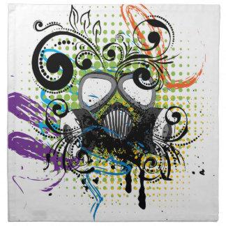 Grunge Floral Gas Mask2 Napkin