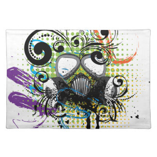 Grunge Floral Gas Mask2 Placemat