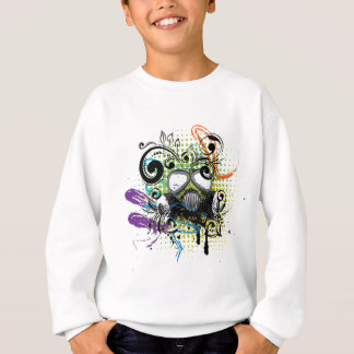 Grunge Floral Gas Mask2 Sweatshirt