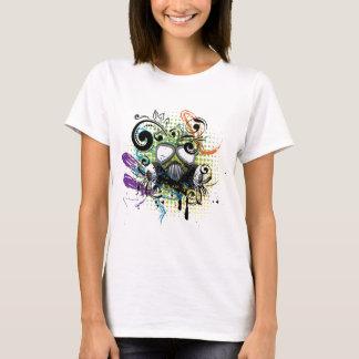 Grunge Floral Gas Mask2 T-Shirt