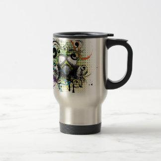 Grunge Floral Gas Mask2 Travel Mug