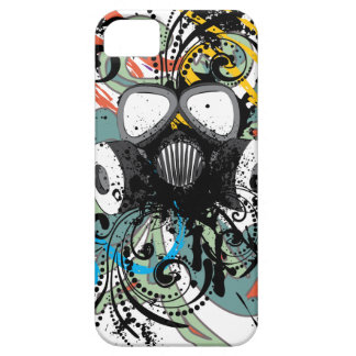 Grunge Floral Gas Mask Case For The iPhone 5