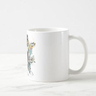 Grunge Floral Gas Mask Coffee Mug