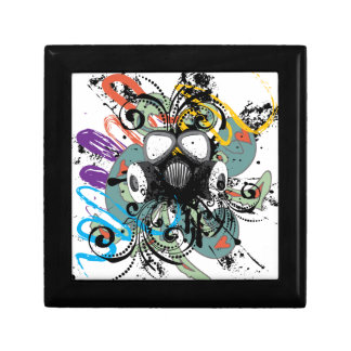 Grunge Floral Gas Mask Gift Box