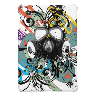 Grunge Floral Gas Mask iPad Mini Cover