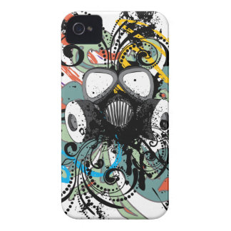 Grunge Floral Gas Mask iPhone 4 Case