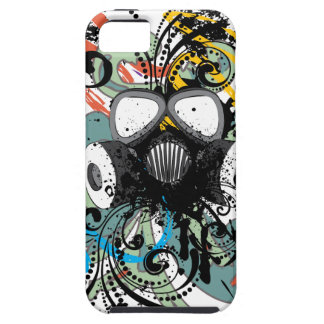 Grunge Floral Gas Mask iPhone 5 Cover