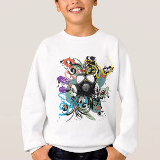 Grunge Floral Gas Mask Sweatshirt