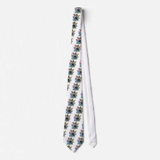 Grunge Floral Gas Mask Tie