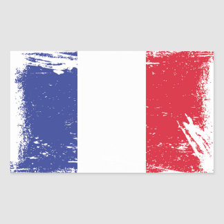 Grunge France Flag Sticker