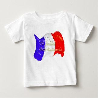 Grunge French Flag Baby T-Shirt