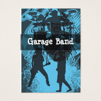 Grunge Garage Band Style Business Card