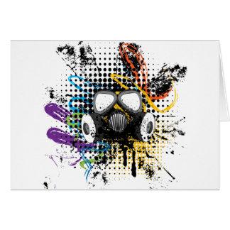 Grunge Gas Mask3 Card