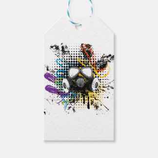 Grunge Gas Mask3 Gift Tags