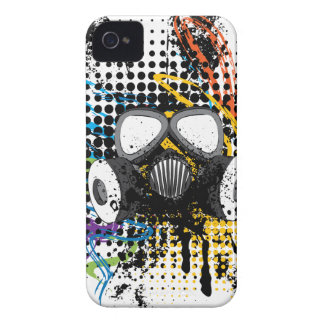 Grunge Gas Mask3 iPhone 4 Cover