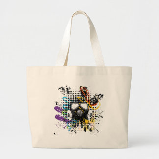 Grunge Gas Mask3 Large Tote Bag