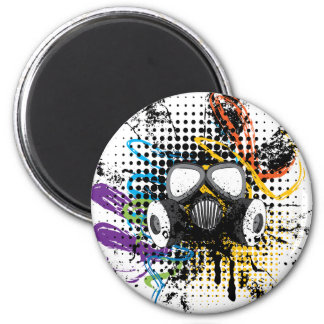 Grunge Gas Mask3 Magnet