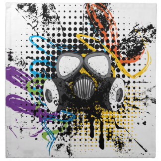 Grunge Gas Mask3 Napkin