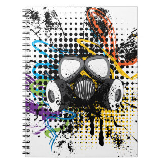 Grunge Gas Mask3 Notebooks
