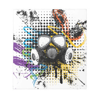 Grunge Gas Mask3 Notepad