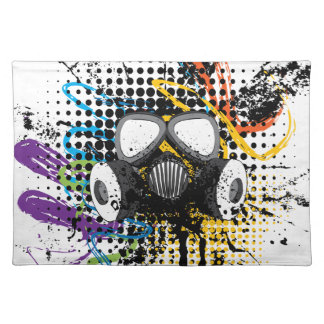 Grunge Gas Mask3 Placemat