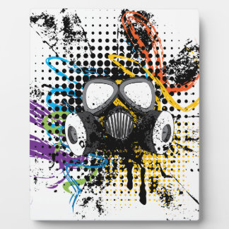 Grunge Gas Mask3 Plaque