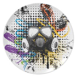Grunge Gas Mask3 Plate