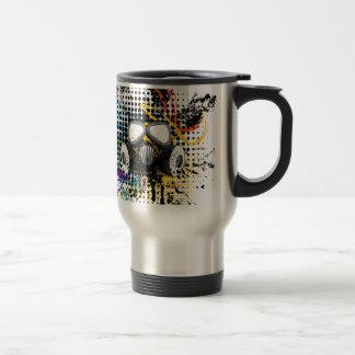 Grunge Gas Mask3 Travel Mug