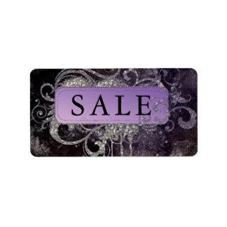 Grunge Glitter Salon Black Purple Sale Address