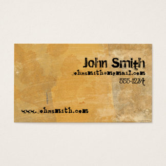 Grunge Gold Business Card