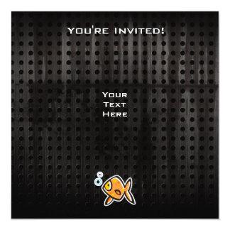 Grunge Goldfish Card