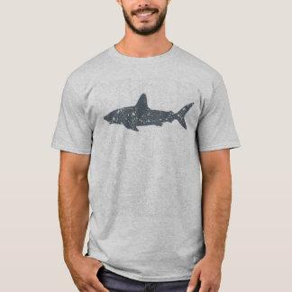 Grunge Gray Swimming Shark T-Shirt