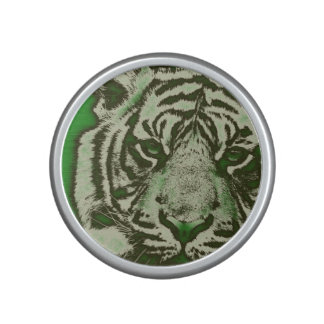 Grunge Green Abstract Tiger Bluetooth Speaker