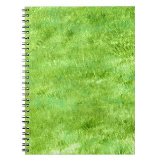 Grunge Green Background2 Spiral Notebook