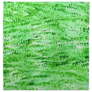 Grunge Green Background Napkin