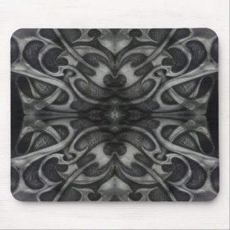 Grunge Grey Metal Tribal  Gothic medieval metallic Mouse Pad