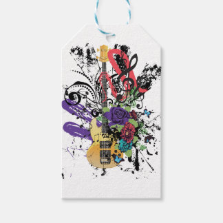 Grunge Guitar Illustration 3 Pack Of Gift Tags
