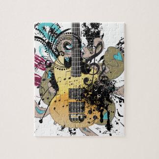 Grunge Guitar Illustration 4 Jigsaw Puzzle