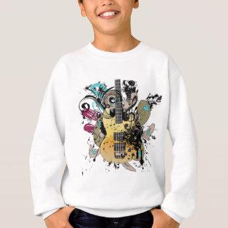 Grunge Guitar Illustration 4 Sweatshirt