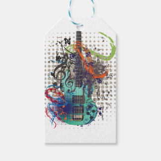 Grunge Guitar Illustration Gift Tags