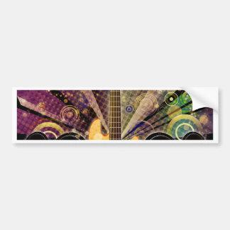 Grunge Guitar with Loudspeakers 2 Bumper Sticker