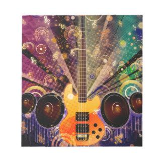 Grunge Guitar with Loudspeakers 2 Notepad