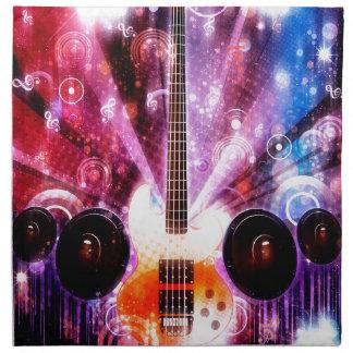 Grunge Guitar with Loudspeakers 3 Napkin