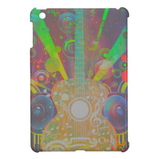 Grunge Guitar with Loudspeakers Cover For The iPad Mini