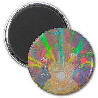 Grunge Guitar with Loudspeakers Magnet