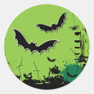 Grunge Halloween Envelope Seal Stickers