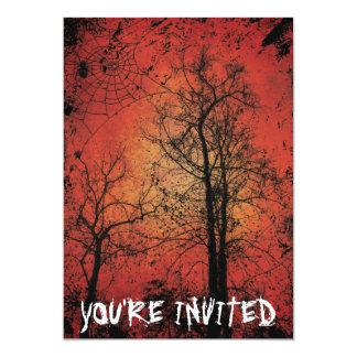Grunge Halloween Party Invitation