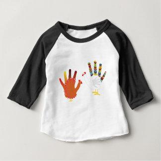 Grunge Hand Chicken3 Baby T-Shirt
