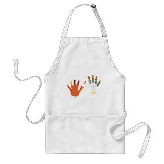 Grunge Hand Chicken3 Standard Apron