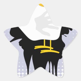 Grunge Hand Chicken4 Star Sticker